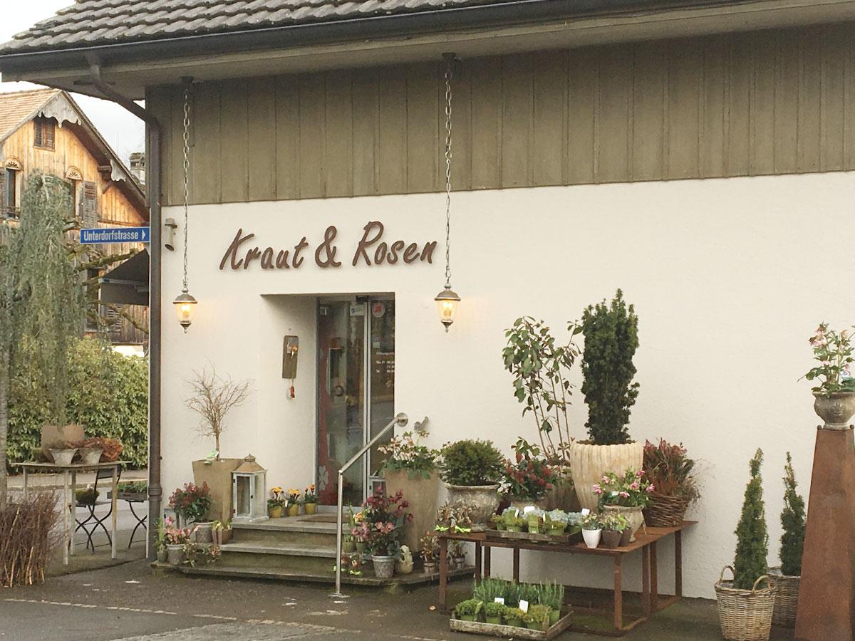 Kraut & Rosen, ihr Blumengeschäft in Knonau